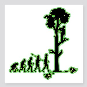 """Tree-Trimmer4 Square Car Magnet 3"""" x 3"""""""