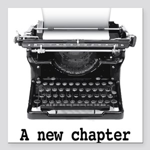 "New chapter Square Car Magnet 3"" x 3"""