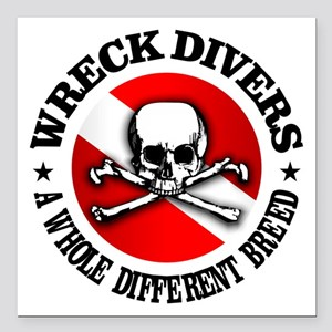 Wreck Divers (Different Breed) Square Car Magnet 3