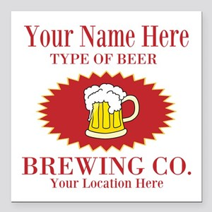 """Your Brewing Company Square Car Magnet 3"""" x 3"""""""