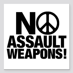 Ban Assault Weapons 3& Square Car Magnet 3&quo