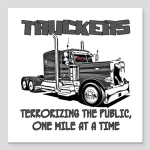 Truckers-Terrorizing The Square Car Magnet 3""