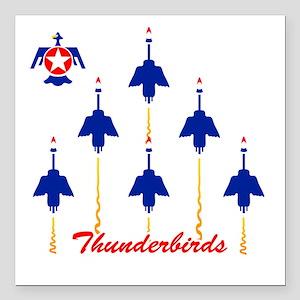 "Thunderbirds Square Car Magnet 3"" x 3"""