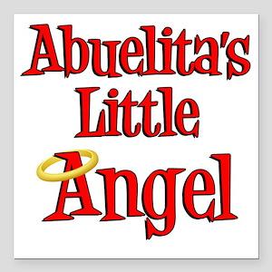 "Abuelitas Little Angel Square Car Magnet 3"" x 3"""