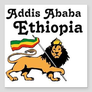 """Addis Ababa, Ethiopia Square Car Magnet 3"""" x 3"""""""
