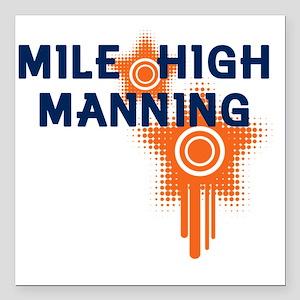 "milehighmanning Square Car Magnet 3"" x 3"""