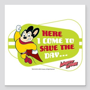 """Mighty Mouse: Save The D Square Car Magnet 3"""" x 3"""""""