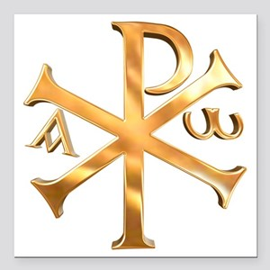 "KI RHO Square Car Magnet 3"" x 3"""