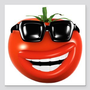 "3d-tomato-shades Square Car Magnet 3"" x 3"""
