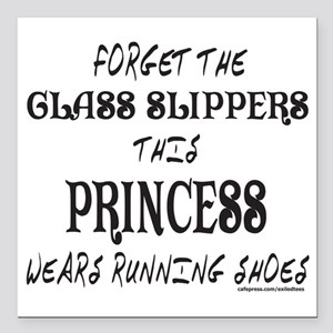 "FORGET GLASS SLIPPER/WEA Square Car Magnet 3"" x 3"""