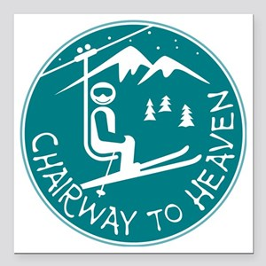 "Chairway to Heaven Square Car Magnet 3"" x 3"""