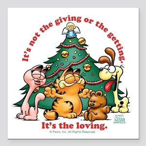 "It's The Loving Square Car Magnet 3"" x 3"""