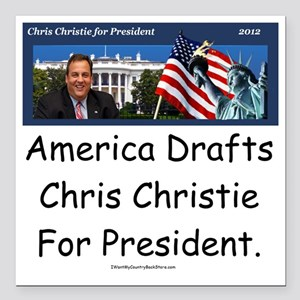 "christie10x10 Square Car Magnet 3"" x 3"""