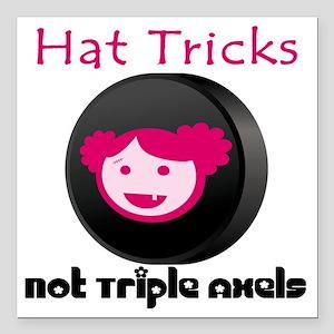 "Hat Tricks Square Car Magnet 3"" x 3"""