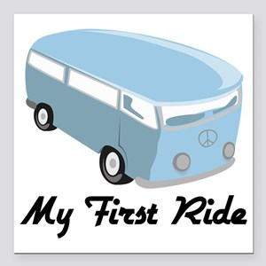 "My First Ride Square Car Magnet 3"" x 3"""