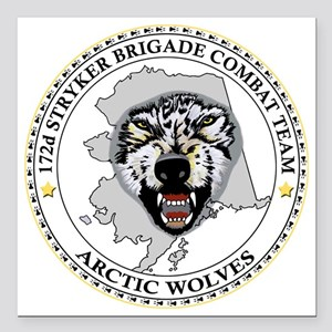 """Army-172nd-Stryker-Bde-A Square Car Magnet 3"""" x 3"""""""