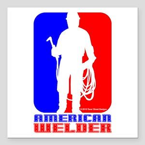 """Welder Square Car Magnet 3"""" x 3"""""""
