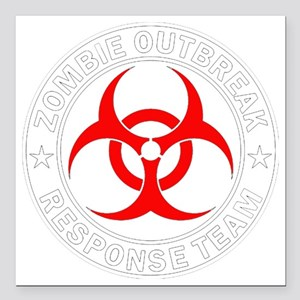 """zombie-outbreak Square Car Magnet 3"""" x 3"""""""