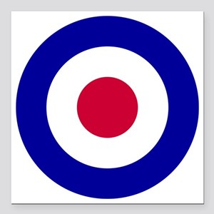 "10x10-RAF_roundel Square Car Magnet 3"" x 3"""