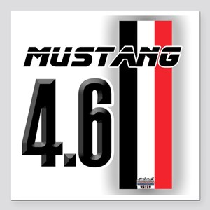 "mustang4.6BWR Square Car Magnet 3"" x 3"""