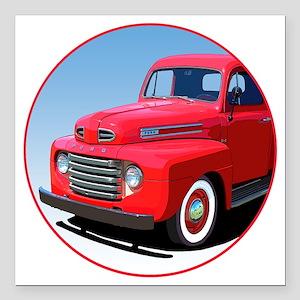 "1948-50 F-1-C10trans Square Car Magnet 3"" x 3"""