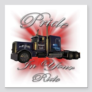 "truck1 Square Car Magnet 3"" x 3"""