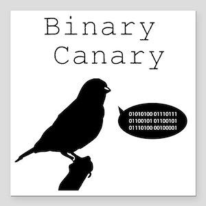 "binarycanary Square Car Magnet 3"" x 3"""