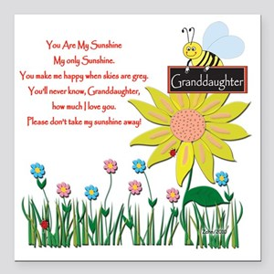 "You Are My Sunshine Gran Square Car Magnet 3"" x 3"""
