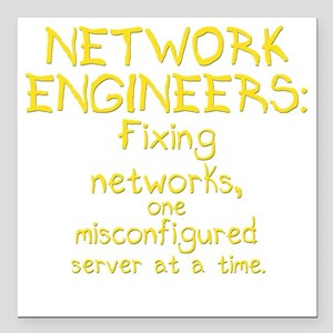 """network-engineers-dk Square Car Magnet 3"""" x 3"""""""