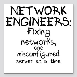 """network-engineers Square Car Magnet 3"""" x 3"""""""