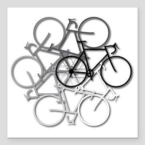 "Bicycle circle Square Car Magnet 3"" x 3"""
