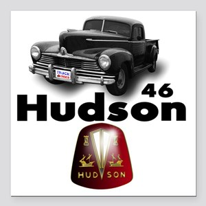 "Hudson2 Square Car Magnet 3"" x 3"""