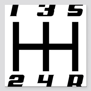 "5-speed logo Square Car Magnet 3"" x 3"""