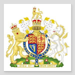 "Royal COA of UK Square Car Magnet 3"" x 3"""