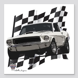 """68stang Square Car Magnet 3"""" x 3"""""""