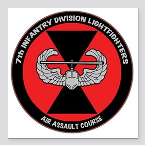 "airassault_7th_trans Square Car Magnet 3"" x 3"""