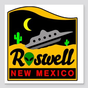 "Roswell Square Car Magnet 3"" x 3"""