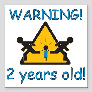 "2yearboyR Square Car Magnet 3"" x 3"""