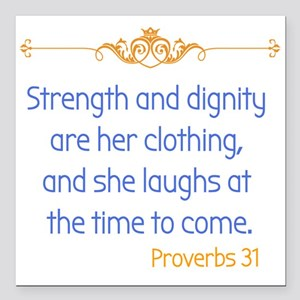 "Proverbs 31 woman Square Car Magnet 3"" x 3"""