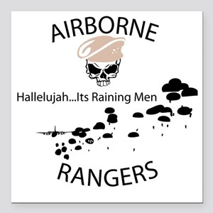 "airborne ranger Square Car Magnet 3"" x 3"""
