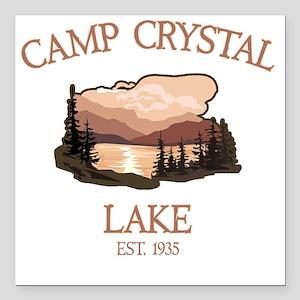 "Camp Crystal Lake Counse Square Car Magnet 3"" x 3"""