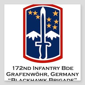 "172nd Blackhawk Bde Square Car Magnet 3"" x 3"""