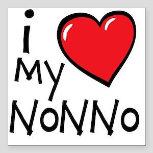 """I Love My Nonno Square Car Magnet 3"""" x 3"""""""