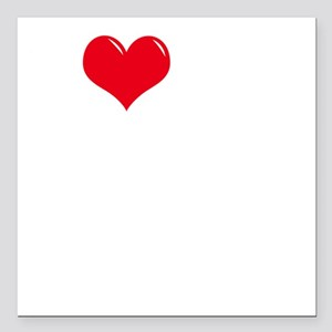 "I-Love-My-Doodle-dark Square Car Magnet 3"" x 3"""