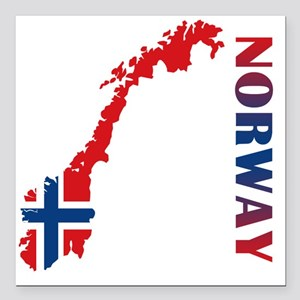 "norway11 Square Car Magnet 3"" x 3"""