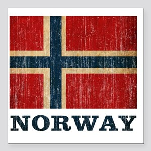 "norway9 Square Car Magnet 3"" x 3"""