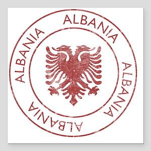 """albania9 Square Car Magnet 3"""" x 3"""""""