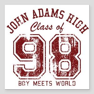 "John Adams High 98 Square Car Magnet 3"" x 3"""