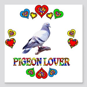 """Pigeon Lover Square Car Magnet 3"""" x 3"""""""