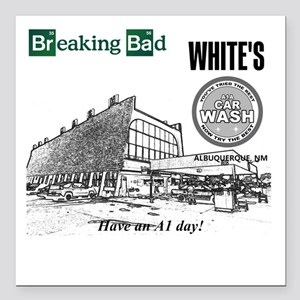 "Breaking Bad Car Wash Square Car Magnet 3"" x 3"""